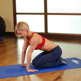 stretch oefening Kneeling Forearm