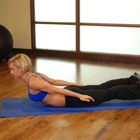 stretch oefening Lower Back Curl