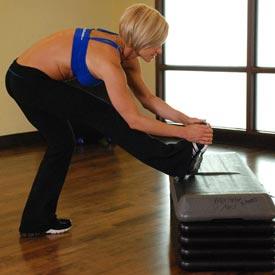 stretch oefening Standing Gastronemius