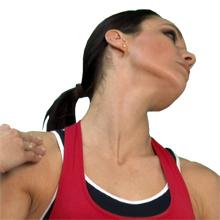 stretch oefening Sternocleidomastoid