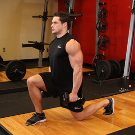 dumbbell lunges,