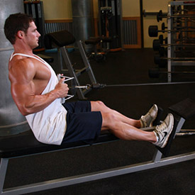 seated cable rows