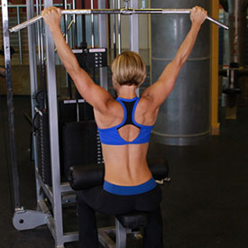 pulldown behind the neck