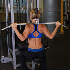 pulldown behind the neck instructieWide Grip Pull Downs