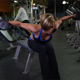 Dumbbell Seated Rear Lateral Raise