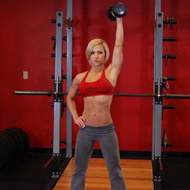 overhead dumbbell extension