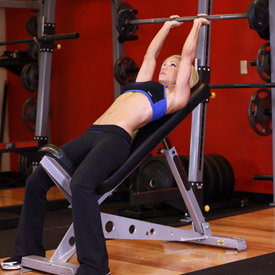 incline barbell triceps extension